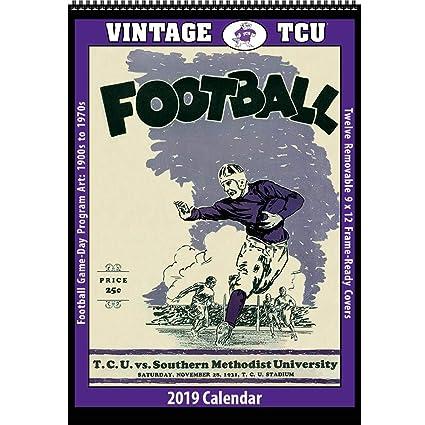 Tcu Calendar 2019 Amazon.: Vintage TCU Horned Frogs 2019 College Football