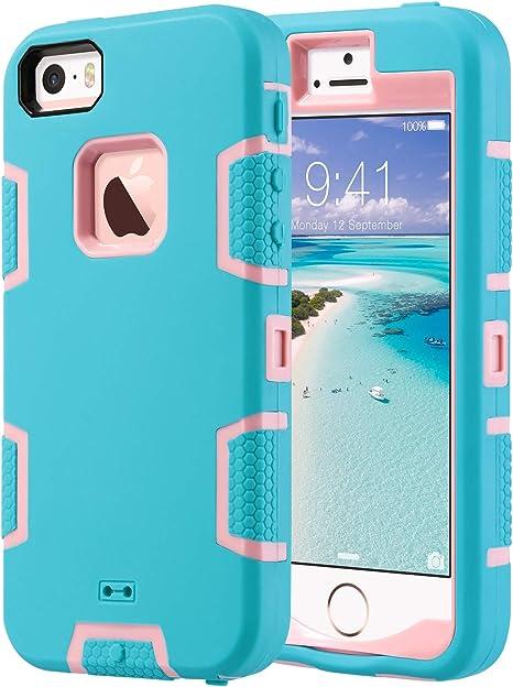ULAK Cover iPhone 5C Custodia Ibrida a Protezione Integrale con