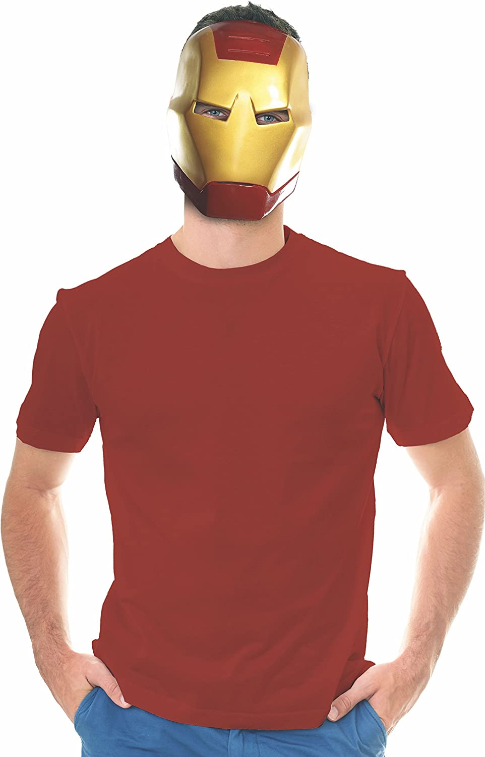 Rubie's Ben Cooper Iron Man Adult Mask, As Shown, One Size