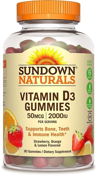 La vitamina D3, fresa, naranja, limón y sabores - Rexall Sundown Naturals