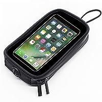Bolsa magnética para motocicleta, capa transparente à prova d'água para celular com 7 ímãs poderosos, bolsa para celular…