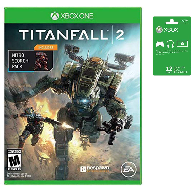 Microsoft Xbox Live 12 Month Gold Membership & Xbox One Titanfall 2 Bundle