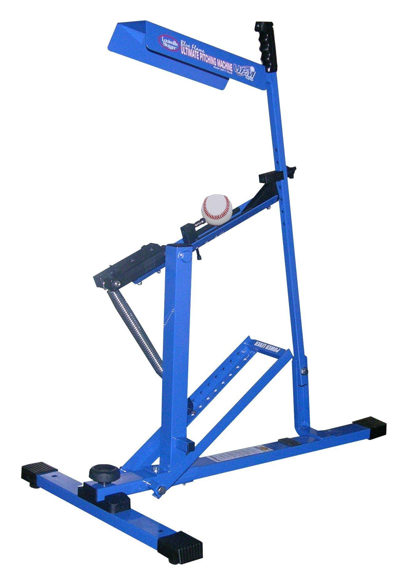 Louisville Slugger UPM 45 Blue Flame Pitching Machine (Renewed) by Louisville Slugger