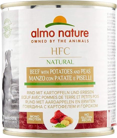 Almo Nature Dog HFC Cuisine Vacuno, Patata y Guisantes - Paquete de 12 x 290 gr (Total: 3480 gr)