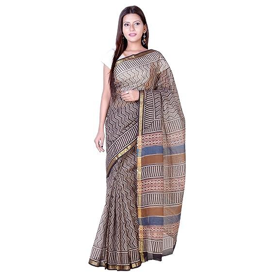 498e1851c4 PANVI Women's Cotton Silk Kota Doria Saree with Blouse Piece (P-97, Black):  Amazon.in: Clothing & Accessories