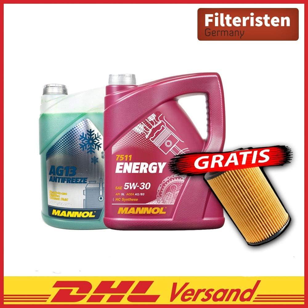 Motoröl Energy 5w30 5l Kühlerfrostschutz 5l Ölfilter Mn7511 Ag13 5liter Auto