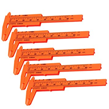 Messschieber 80 mm orange Kunststoff
