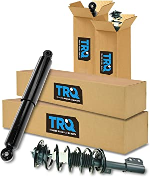 Front Rear Complete Shock Strut Spring Assembly Kit Set of 4 for Equinox Torrent