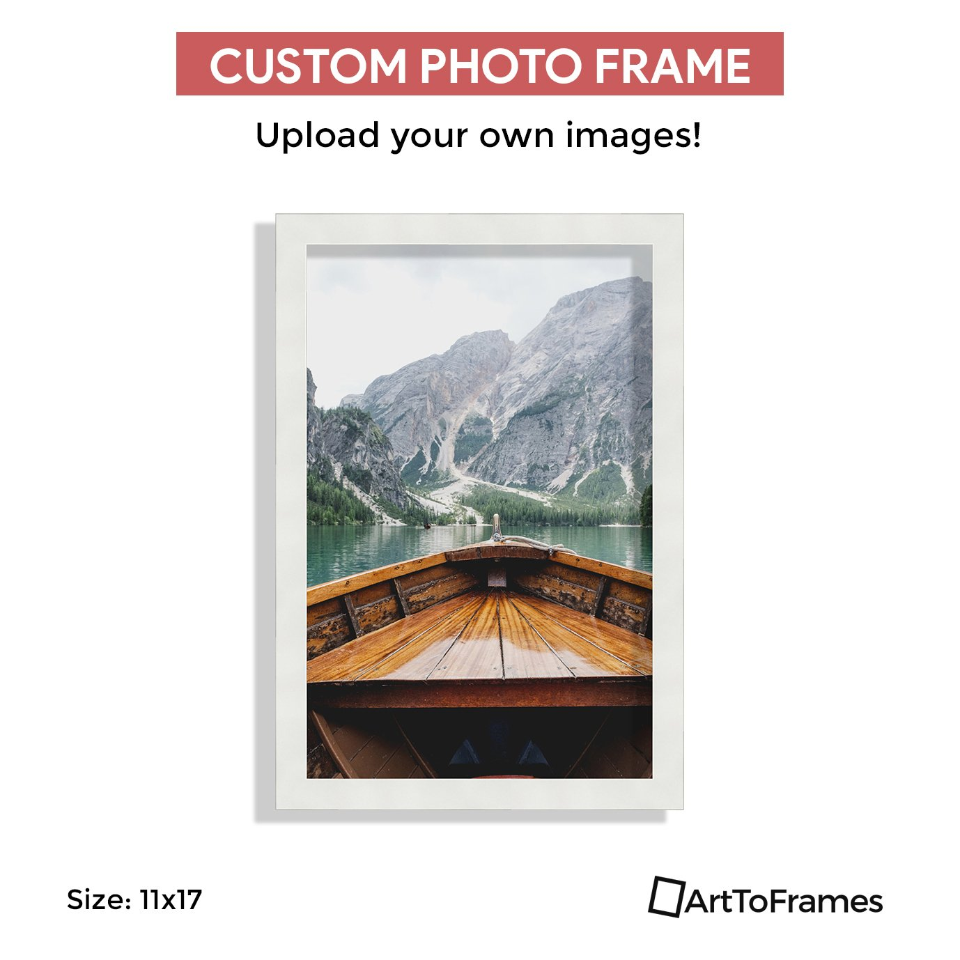 Custom Framing on Amazon High Definition Quality Photo 11x17, Framed in Custom White Frame No Mat by ArtToFrames