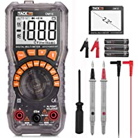 Digital Multimeter Electrical Tester 2000 Counts TRMS Auto-Ranging Amp Volt Ohm Meter Diode and Continuity Tester AC/DC…