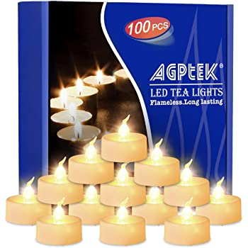 Amazon Com Lamplust 100 White Flameless Tea Lights With