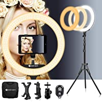 18 Inch Ring Light with Tripod Stand iPad Holder YouTube LED TikTok Ringlight Color Temperature 3200K to 5500K Makeup…