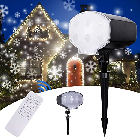tanbaby snowfall led lights christmas projector lights projector with remote control for holiday