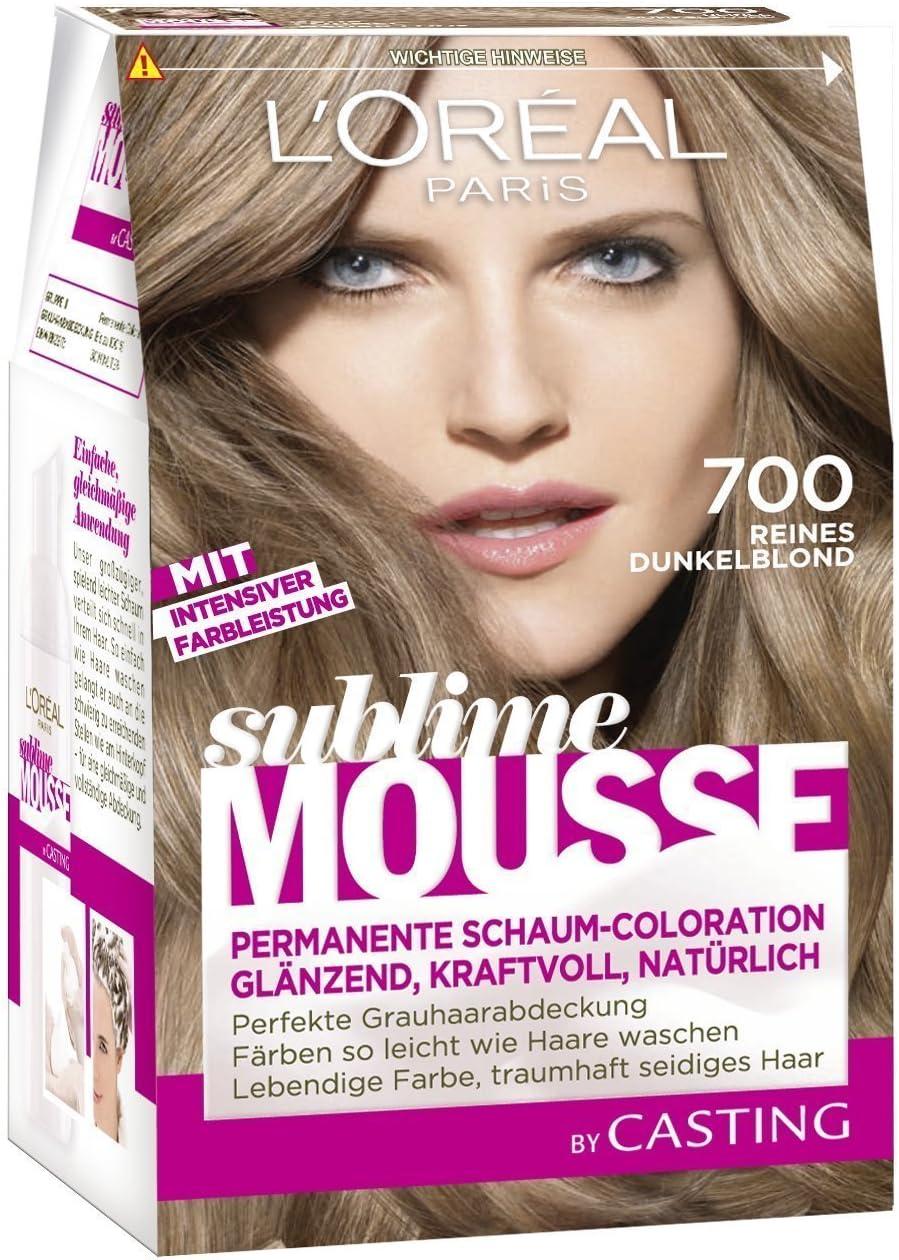 L Oréal Paris Sublime Mousse Permanent Foam colour 700 Pure Very Light Brown