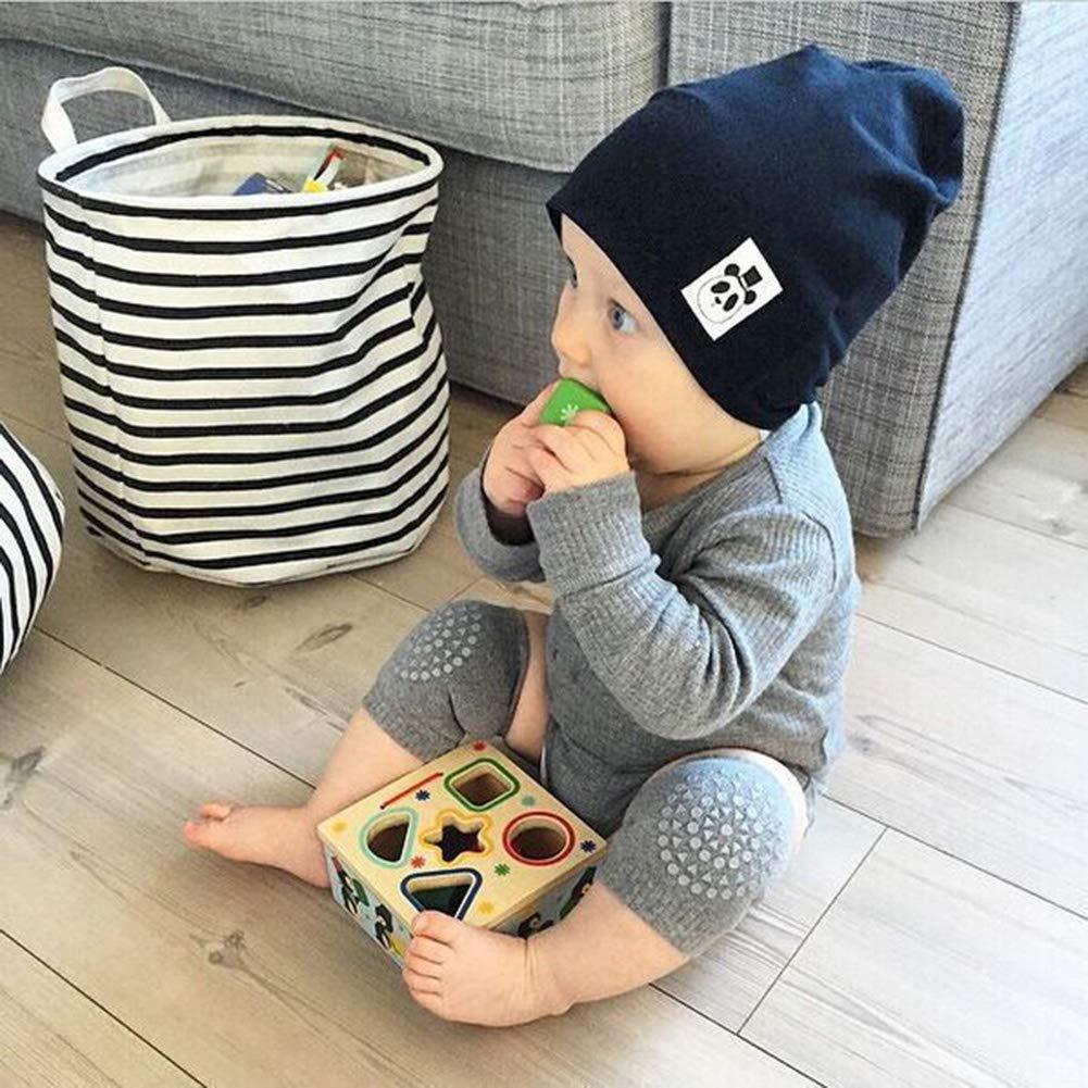 Egosy 5 Paare Baby Junge Knieschoner Stulpen Knieschoner mit Gummipunkte Anti-Rutsch Baby Krabbelschoner mit oder Jung Krabbelschoner Krabbelhilfe