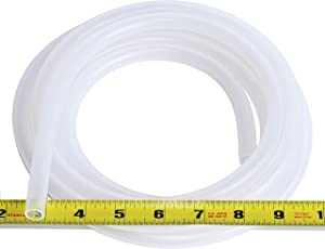 "Pure Silicone Tubing - 3/8"" ID x 1/2"" OD - High Temp Kink-Free Hose Tube 500F (10 Feet)"