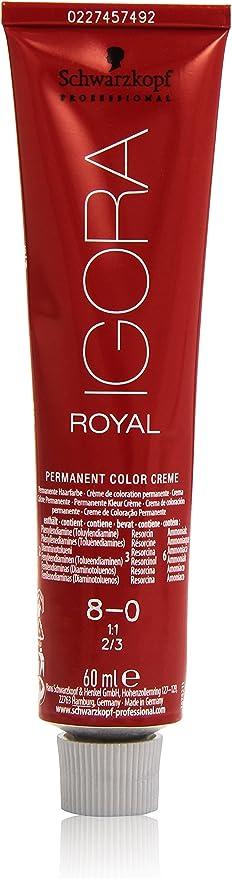 Schwarzkopf Professional Igora Royal Tinte - 60 ml, 8-0 Rubio ...