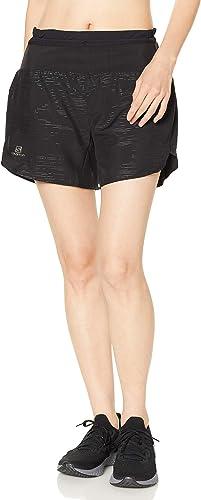 Pantaloncini da Sport 2 in 1 con Slip Integrato Poliestere//Elastan Donna Salomon XA Short W