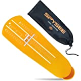 Foot Measurement Device US Size, Shoe Feet Measuring Ruler Sizer With Bag for Adults Men Women Infants Kids (Orange)