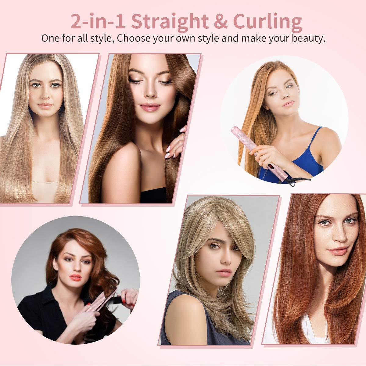 Professional Styler Piastra professionale per capelli, con Display LCD, Doppia Tensione Piastra Per Capelli per prestazioni elevate