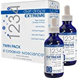 Creative Bioscience 1234 Diet Drops Extreme (2 Pack) - Weight-Loss-Drops - Appetite Control - Keto Diet - (IF…