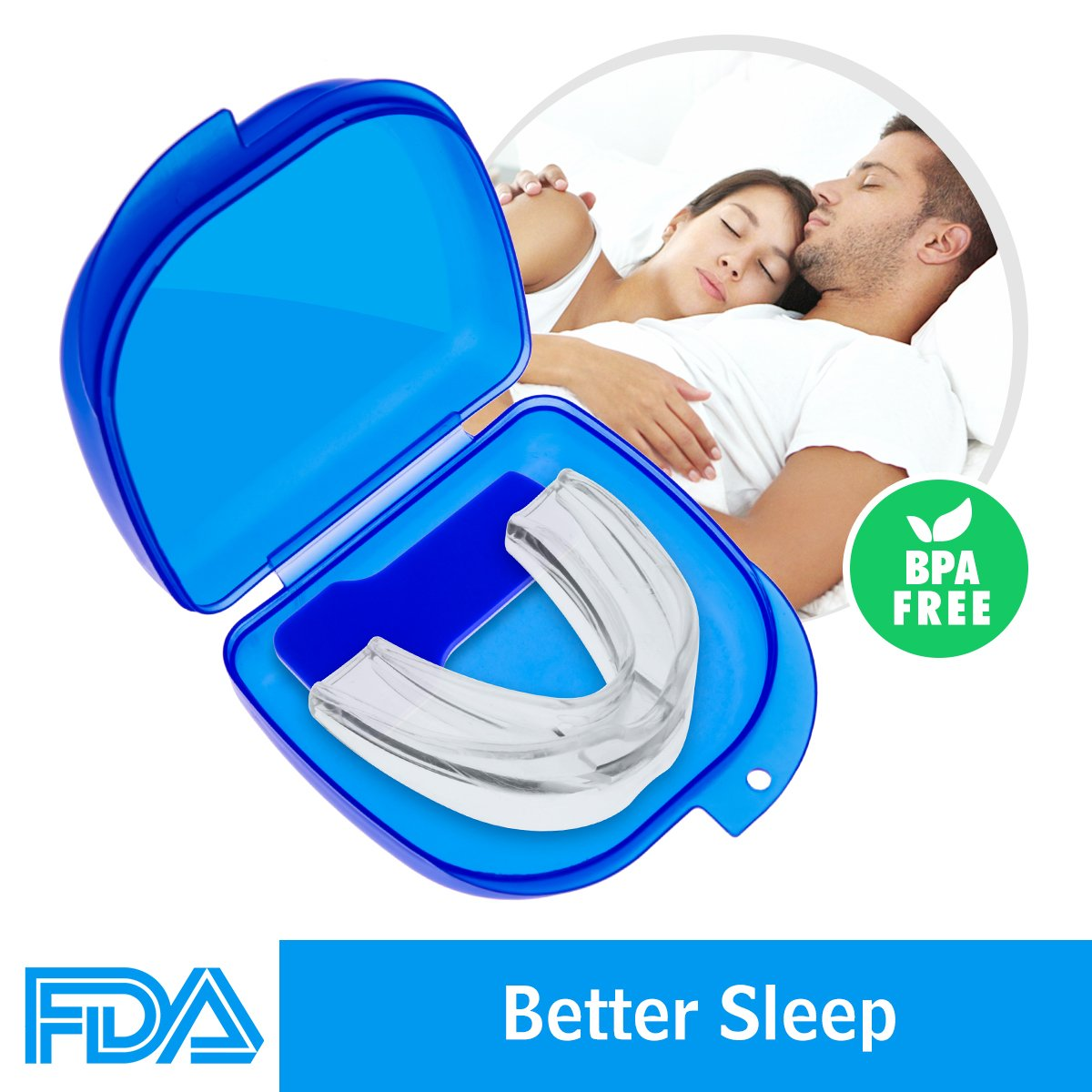 Airror Mouth Guards for Teeth Grinding, 2018 UPGRADED Anti Snoring Devices Aid Snore Reducing for Natural and Comfortable Sleep Vandora
