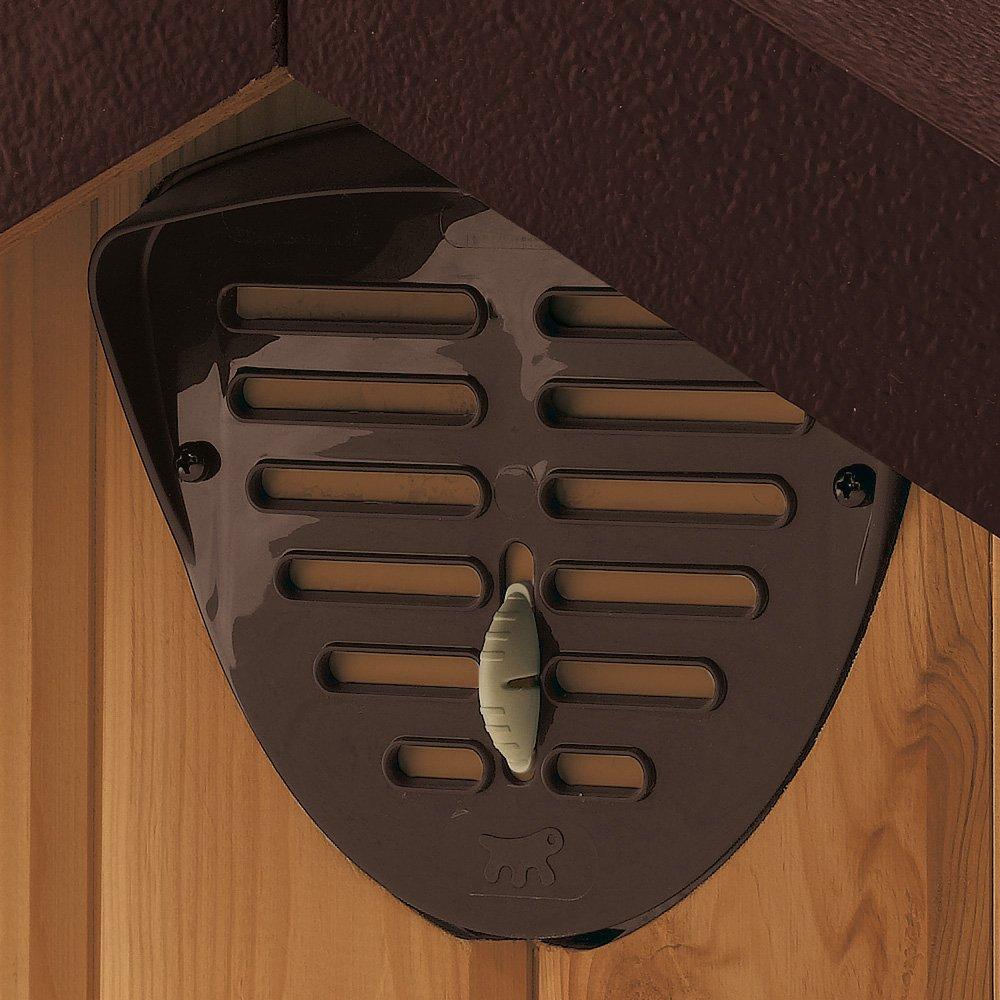 Feplast 87001000 Caseta de Exterior para Perros Domus Small, Robusta Madera Ecosostenible, Pies de Plástico, Rejilla de Ventilación, 61 x 74.5 x 55 Cm: ...