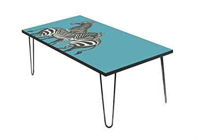 Wood Coffee Table With Digital Print By LAMOU Baltic Birch With Beautiful  Zebra Print