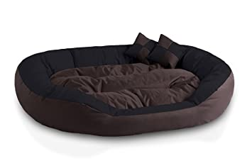 BedDog 4 en 1 SABA marron/negro XXL aprox. 110x80cm colchón para perro,