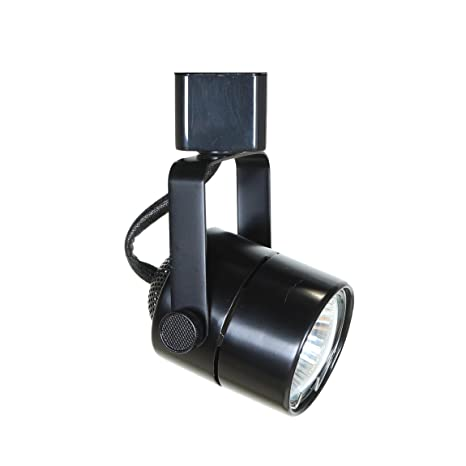 direct lighting 50154 black gu10 line voltage track lighting head