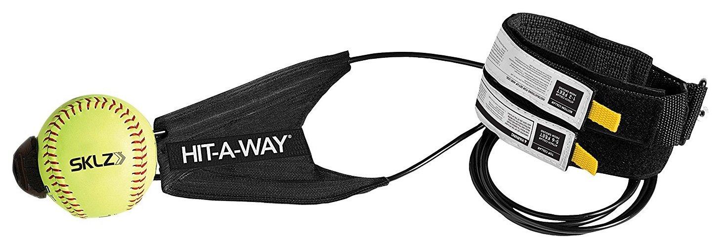 SKLZ Hit-A-Way–Entrenador de swing para béisbol y softball–mejorar su potencia de bateo, Ritmo, calendario, y Confianza, desarrollar Swing mecánica, simula Real tonos, Get horas de Swing formación, color negro/amarillo, tamaño No se aplica JS02-000-06