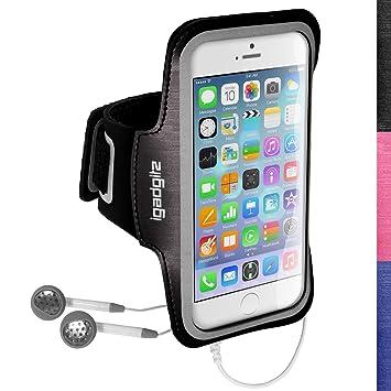 igadgitz u3044 rutschfeste Sportarmband für Apple iPhone 6 4.7 2014 ideal für Laufen, Fitnessstudio – Schwarz