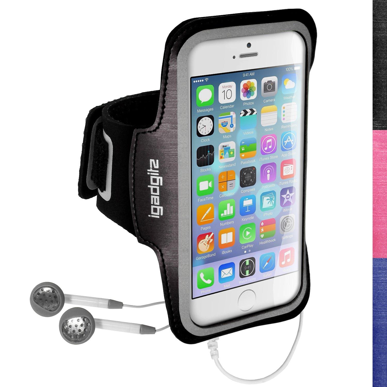 igadgitz U3044 - Brazalete Deportivo Antideslizante Para Apple iPhone 6 4.7