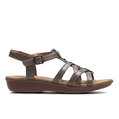 d6c1cc2e7 Clarks Manilla Bonita Leather Sandals In Sage Wide Fit Size 5   Amazon.co.uk  Shoes   Bags