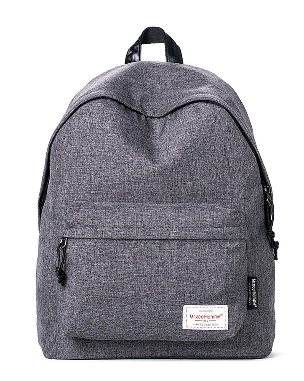 Keshi Canvas Cute College School Laptop Backpack -Straps Reinforced