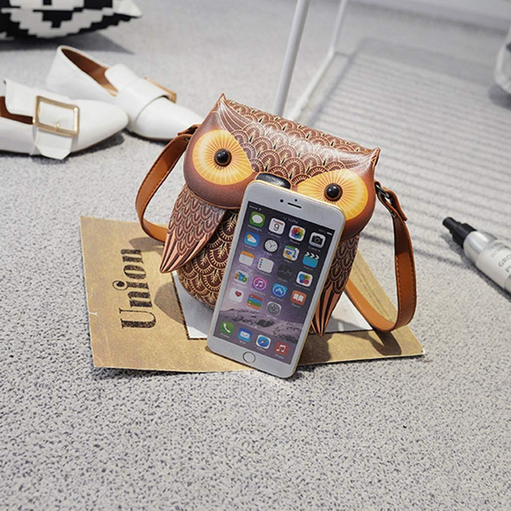 Amazon.com: BZWZH Womens Cute Owl Shoulder Bag Cross Body Bag Chain Purse Handbag Personality 3D Mini Cartoon Messenger Totes: Sports & Outdoors