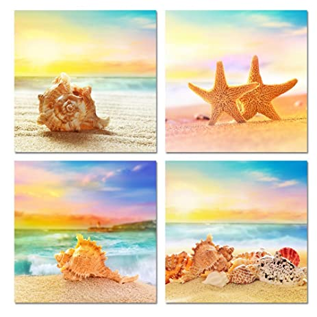 seascape paintings on canvas amazoncom sea charm seaview modern seascape giclee canvas