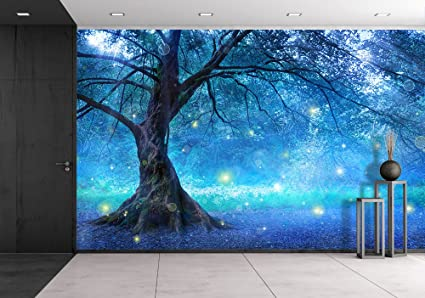 Amazoncom wall26 Fairy Tree In Mystic Forest Removable Wall