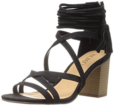 Womens Elroy Dress Sandal, Black, 7 M US xoxo