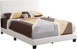 Glory Furniture Caldwell Queen, White Upholstered bed,