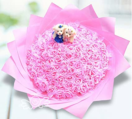 Ramo Flores bola mano flores artificiales flores artificiales rosas decoradas regalo de cumpleaños día de san