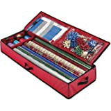 Christmas Storage Organizer – Spacious Under-bed Holiday Wrapping Paper Container –Perfect for Gift Wrap, Bags, Ribbons…