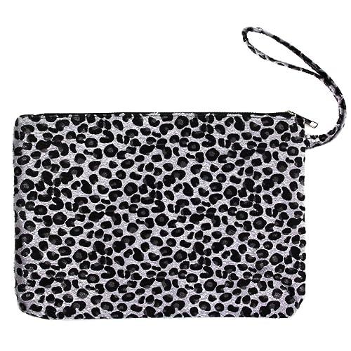 8a40bc4822 Me Plus Women s Clutch Pouch Wristlet Purse Bag Zipper Closure (2 Patterns)  (Leopard