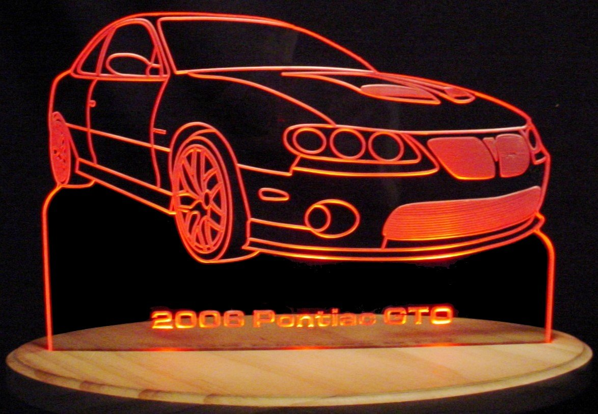 2006 GTO Acrylic Lighted Edge Lit LED Sign 13'' Light Up Plaque 06 VVD9 Full Size USA Original
