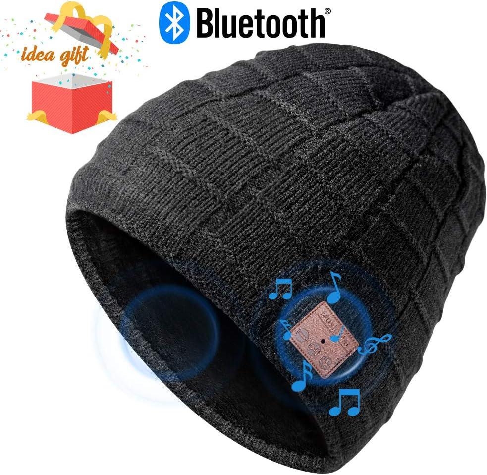 HANPURE Bluetooth Mütze Damen & Herren Geschenke, Bluetooth Mütze mit Bluetooth 5.0 Kopfhörern für Outdoor-Sport, Skifahren, Laufen, Skaten, Geburtstagsgeschenke für Frauen&Männer 1