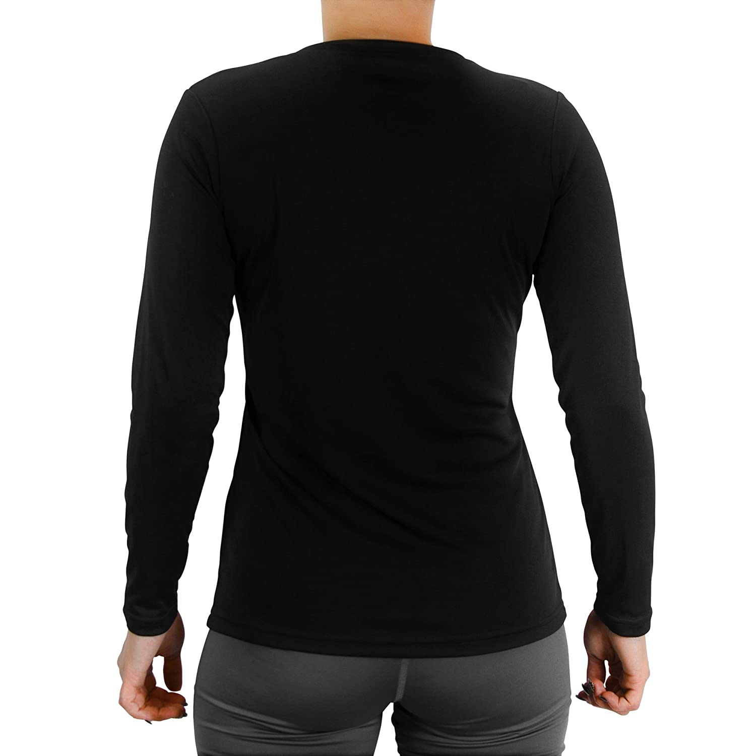 f974ff61e One Five Basics Women s Long Sleeve Athletic Performance Top With Moisture  Wicking Technology and 50+ UPF UV Protection at Amazon Women s Clothing  store
