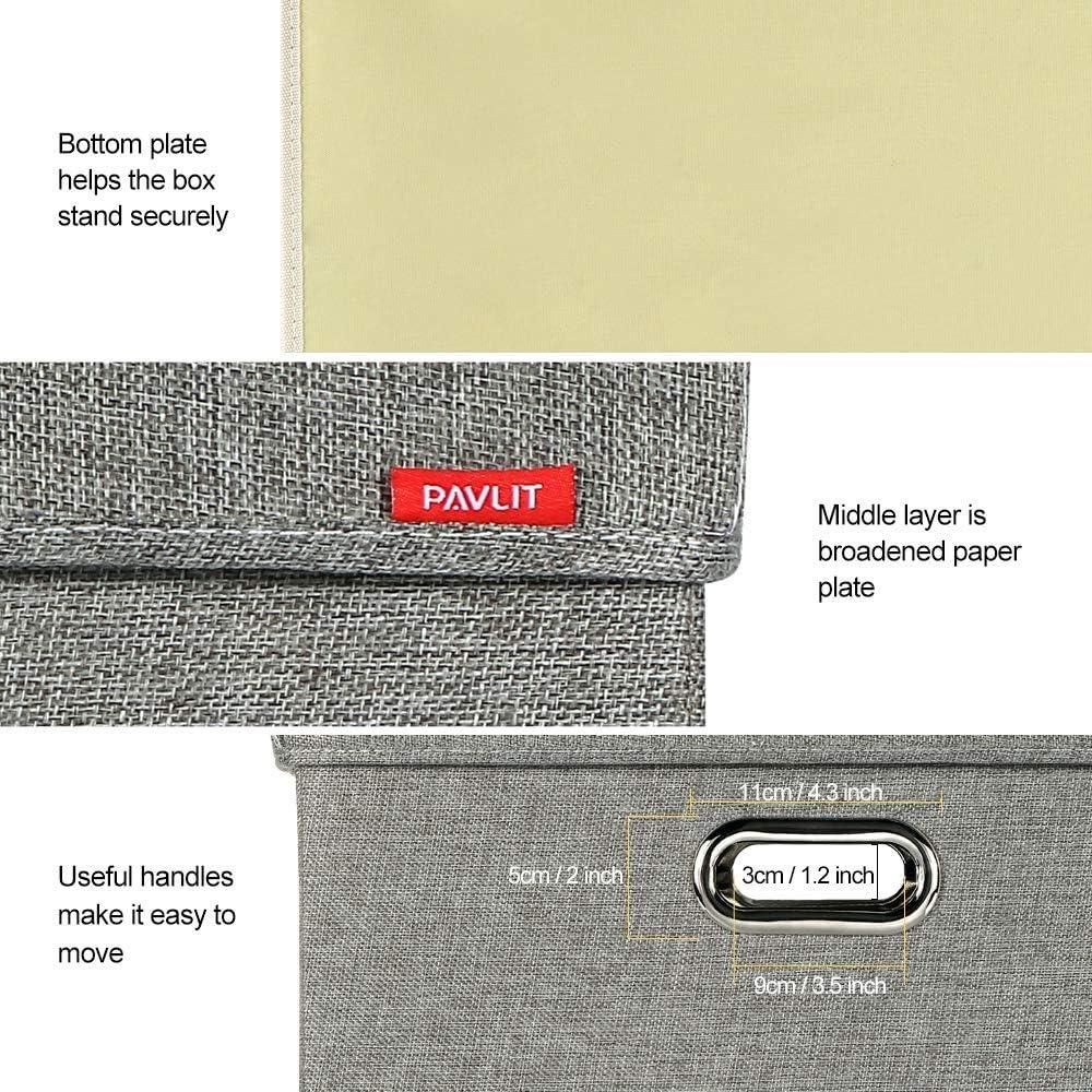 Schlafzimmer und Regale 45x30x30 cm Spielzeug PAVLIT Aufbewahrungsbox 2 st/ück mit Deckel Aufbewahrungskiste f/ür Kleidung