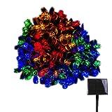 RPGT ソーラー LEDイルミネーションライト 100/200/300/400/500LED 桜の花 ソーラーライトストリング USB充電式 防水 8ライトモード ソーラー充電式 さくらタイプ クリスマスガーデン装飾ライトストリング 屋外、クリスマスツリー、ガーデン、誕生日、バレンタイン、ウェディングパーティーデコレーション(ブルー、ホワイト、マルチカラー、暖かい光、ピンク)
