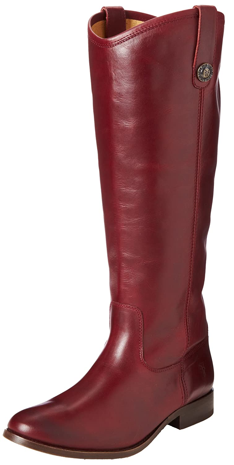 Bordeaux Wide Calf Smooth Vintage Leather Frye Women's Melissa Button Boot