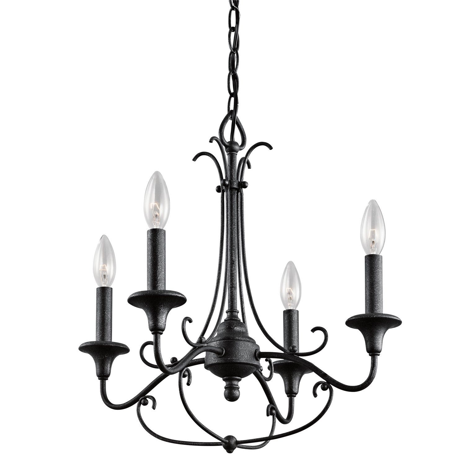 Kichler Lighting DBK Basel 4LT Mini Chandelier Distressed